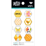Bananas For You - Illustrated Faith Basics Hexies Epoxy Stickers