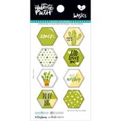 Olive You - Illustrated Faith Basics Hexies Epoxy Stickers