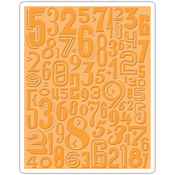 Numeric - Sizzix Texture Fades A2 Embossing Folder