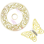 Wine Glass Charm & Butterfly - Sizzix Framelits Dies 2/Pkg W/Stamps By David Tutera