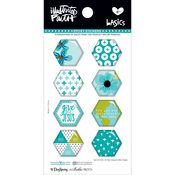 Oh My Heavens - Illustrated Faith Basics Hexies Epoxy Stickers