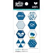 Mrs. Blueberry - Illustrated Faith Basics Hexies Epoxy Stickers