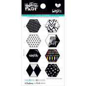 Black Eyed Pea - Illustrated Faith Basics Hexies Epoxy Stickers