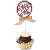 Cupcake Wrapper & Toppers - Sizzix Thinlits Dies 5/Pkg By David Tutera