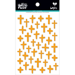 Practice What You Peach - Illustrated Faith Basics Puffy Cross Stickers