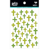 Olive You - Illustrated Faith Basics Puffy Cross Stickers