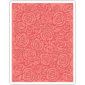 Roses By Tim Holtz - Sizzix Texture Fades A2 Embossing Folder