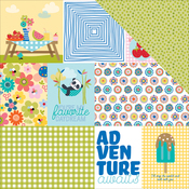 "Daily Details - Popsicles & Pandas Double-Sided Cardstock 12""X12"""