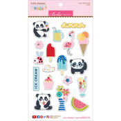 Icons - Popsicles & Pandas Puffy Stickers