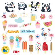 Popsicles & Pandas Paper Pieces Cardstock Die-Cuts