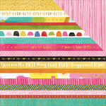 """Borders - Make Your Mark Double-Sided Foiled Cardstock 12""""X12"""""""