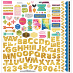 "Fundamentals W/Gold Foil - Make Your Mark Cardstock Stickers 12""X12"""