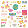 W/Gold Foil - Make Your Mark Paper Pieces Cardstock Die-Cuts