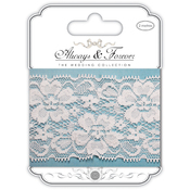 Floral Notes - Craft Consortium Always & Forever Lace Ribbon 2m
