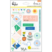 """Dream On Leatherette Shape Stickers 5""""X7"""""""