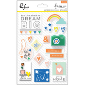 "Dream On Layered Chipboard Stickers 5""X7"""