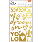 "Gold - Dream On Acrylic Mirror Stickers 4""X6"""