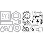 Travel Planner - Sizzix Framelits Dies W/Stamps By Katelyn Lizardi 12/Pkg