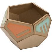 Geometric Holder 3D - Sizzix Thinlits 3D Dies by Lynda Kanase 7/Pkg