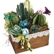 2d & 3d Succulents - Sizzix Thinlits 2D, 3D Dies By Lynda Kanase 6/Pkg