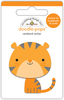 At The Zoo Tommy Tiger - Doodlebug Doodle-Pops Introducing Doodle Pops, dimensional die cut stickers! The perfect pop of whimsy and delight, these colorful cardstock stickers are a great addition to any card, tag or gift.  Re-positional adhesive.  Sticker size approx. 1.875 inches  x 1.75 inches .