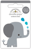 At The Zoo Eddie Elephant - Doodlebug Doodle-Pops Introducing Doodle Pops, dimensional die cut stickers! The perfect pop of whimsy and delight, these colorful cardstock stickers are a great addition to any card, tag or gift.  Re-positional adhesive.  Sticker size approx. 1.875 inches  x 1.75 inches .