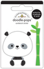 At The Zoo Polly Panda - Doodlebug Doodle-Pops Introducing Doodle Pops, dimensional die cut stickers! The perfect pop of whimsy and delight, these colorful cardstock stickers are a great addition to any card, tag or gift.  Re-positional adhesive.  Sticker size approx. 1.875 inches  x 1.75 inches .