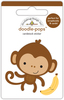 At The Zoo Monkey Mike - Doodlebug Doodle-Pops Introducing Doodle Pops, dimensional die cut stickers! The perfect pop of whimsy and delight, these colorful cardstock stickers are a great addition to any card, tag or gift.  Re-positional adhesive.  Sticker size approx. 1.875 inches  x 1.75 inches .