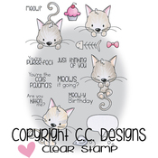 """Meowy - Meoples Cling Stamp 4""""X6"""""""