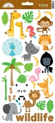 Icons 1 - At The Zoo Cardstock Stickers