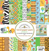 At The Zoo - Doodlebug Paper Pack