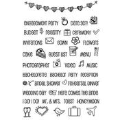 """Wedding Plans - SRM Planner Clear Stamps 4""""X6"""""""