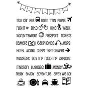 """Travel Plans - SRM Planner Clear Stamps 4""""X6"""""""
