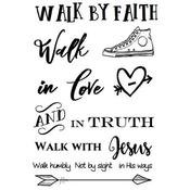 """Walk By Faith - SRM Bible Journaling Clear Stamps 4""""X6"""""""
