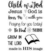 """Child Of God - SRM Bible Journaling Clear Stamps 4""""X6"""""""