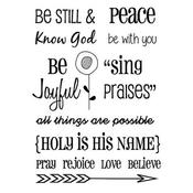 """Words Of Faith #2 - SRM Bible Journaling Clear Stamps 4""""X6"""""""
