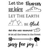 """Heaven & Earth - SRM Bible Journaling Clear Stamps 4""""X6"""""""