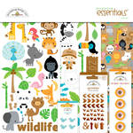 At The Zoo - Doodlebug Essentials Page Kit