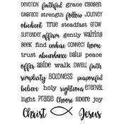 """Daily Devotion - SRM Bible Journaling Clear Stamps 4""""X6"""""""