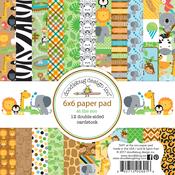 """At The Zoo - Doodlebug  Paper Pad 6""""X6"""""""