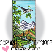"""Mountain Song - Doveart Cling Stamp 2""""X4.25"""""""
