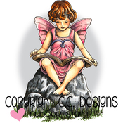 """Fairy Ella - Doveart Cling Stamp 3""""X4"""""""