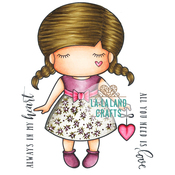 "Paper Doll Marci - Love - La-La Land Cling Stamps 4.5""X3.5"""