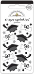 Hats Off Graduation - Doodlebug Sprinkles Adhesive Glossy Enamel Shapes