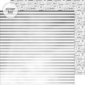 Sterling Stripes Foil Paper - Hats Off - Doodlebug
