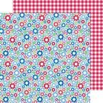 Festive Flowers Paper - Yankee Doodle - Doodlebug