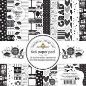 """Hats Off - Doodlebug Double-Sided Paper Pad 6""""X6"""""""