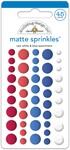 Yankee Doodle Red, White & Blue - Doodlebug Sprinkles Adhesive Matte Enamel Dots
