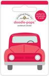 Yankee Doodle Old Red - Doodlebug Doodle-Pops 3D Stickers
