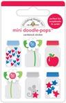 Yankee Doodle Teensy Treasures - Doodlebug Doodle-Pops 3D Stickers